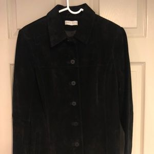 Lord & Taylor Black Suede Jacket